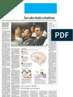 Folha - 20110102 - Pessoas distraídas são mais criativas