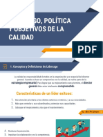 Liderazgo, Politica y Objetivos de la Calidad