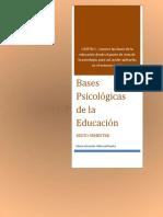 BASES PSICOLOGICAS DE LA EDUCACIÓN