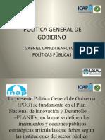 POLÌTICA GENERAL DE GOBIERNO presentaciòn