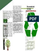 folleto de reciclaje