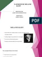 PRINCIPALES APORTES DE MELANIE KLEIN