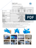 Specification of  Nitrile Glove From Tianjin Fayean