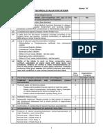 Annex H - Technical Evaluation Criteria