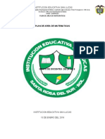 PLAN DE AREA DE MATEMATICAS  DE PRIMARIA - MIREYA- JENNY - ODILIA