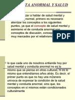 conducta anormal y saludmental