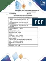 Anexo 3. Tabla de distribución de productos de la guia de la Fase 3