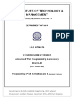 Advanced Web Lab Manual - 16MCA47-SKT