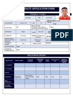 CANDIDATE APPLICATION FORM