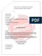 Page promotion for indian client by INFINITI Writers