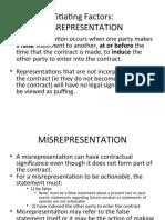 Lect. 5.1 Misrepresentation