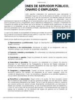 CLASIFICIÓN DE SERVIDORES PUBLICOS