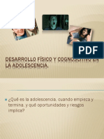 Desarrollo fisico y cognoscitivo en la adolescencia