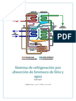 Sistema de refrigeración por absorción de bromuro de litio y agua