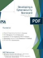 Developing a Cybersecurity Scorecard