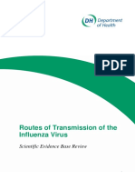 Routes of Transmission of the Influenza Virus