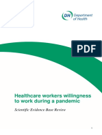 Healthcare workers willingness to work during a pandemic