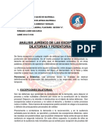 ANÁLISIS JURÍDICO DE LAS EXCEPCIONES DILATORIAS Y PERENTORIAS