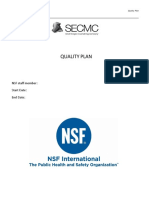 HDPE Quality Plan