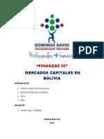 INTRODUCCIÓN DE MERCADOS CAPITALES EN BOLIVIANOS(1)