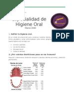 Especialidad de Higiene oral
