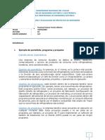 Ejemplo de portafolio, programa y proyecto