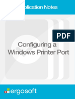 Configuring a Windows Printer Port