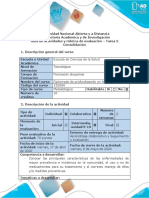 Guía de actividades y rúbrica de evaluación – Tarea 5 - Consolidación
