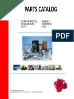 Parts Catalog Cummins QSB6 7 - CPL426