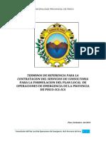 TDR- Plan de Operaciones de Emergencia- Pisco