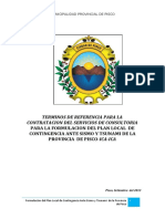 TDR- Plan de Contingencia ante sismo y tsunami- Pisco