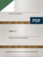 6. Política de dividendos