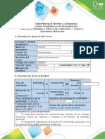 Guía de actividades y rúbrica de evaluación - Tarea 2 - Geometría molecular