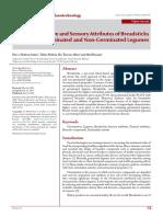 Textural, Bioactive and Sensory Attributes of
