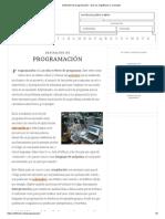 Definición de programación - Qué es, Significado y Concepto