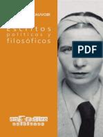 Beauvoir, S. (2019). Escritos políticos y filosóficos.pdf