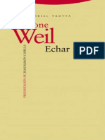 Simone Weil - Echar Raíces