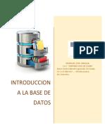 Introduccion a La Base de Datos RESUMEN