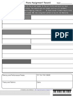 Piano Assignment Sheet Advanced 2011