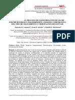 SIMULACIÓN DEL PROCESO DE PASTEURIZACIÓN DE LECHE POR MICROONDAS Y POR INMERSIÓN
