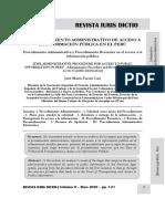 El Procedimiento Administrativo de Acceso a La Información Pública en El Perú - Autor José María Pacori Cari