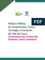 Politica publica ciencia y tecnologia e innovación