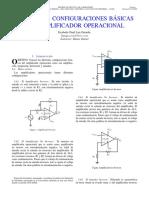 Practica 2. Configuraciones basicas del amplificador operacional