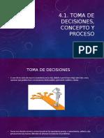 4.1. Toma de decisiones, concepto y proceso