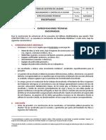 FT-007-005 Especificaciones Técnicas - Encofrados