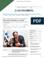 Declaraciones informativas, en octubre _ El Economista