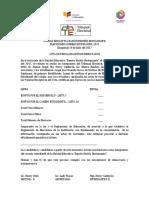 ACTA DE PROCLAMACION DE GANADOR CONSEJO E