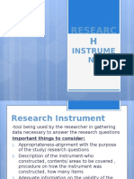 how to construct the research instrument