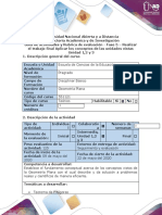 Guía de actividades  y  rúbrica de evaluación - Fase 5 - Realizar el trabajo final Aplicar los conceptos de las unidades vistas..docx