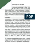 CONCEPTO DE DINAMICA ESTRUCTURA